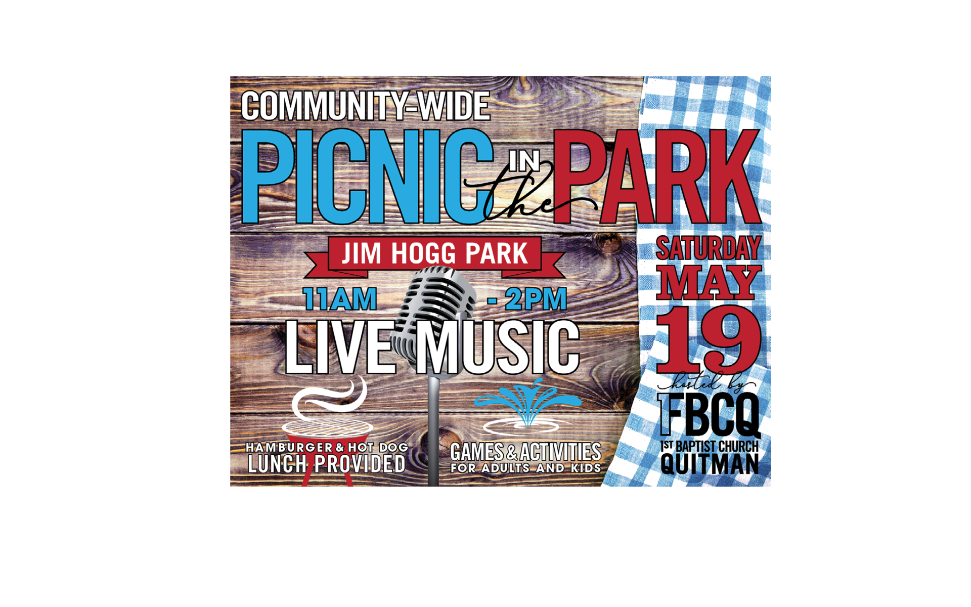 PICNIC IN THE PARK FLIER